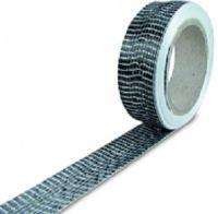 Nastro in fibra di carbonio unidirezionale 125 gr/mq H=25 mm L=5 mt.