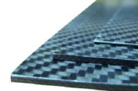 Carbon fibre sheet ECOTECH™, 350 x 150 mm, T= 2 mm.